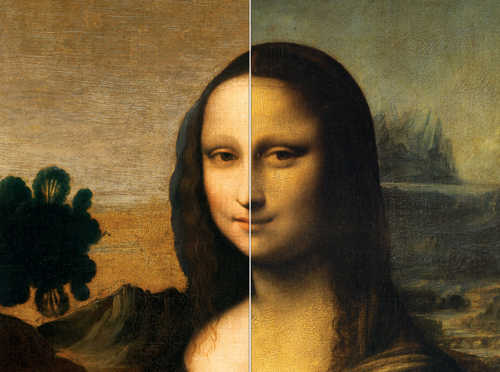 a comparison of the artworks of leonardo da vinci and michelangelo buonarrotti two famous artists of Leonardo da vinci completed the mona lisa in the 16th century the louvre has housed the painting in paris since 1797, but varnishes applied to the painting began to darken its look soon after.