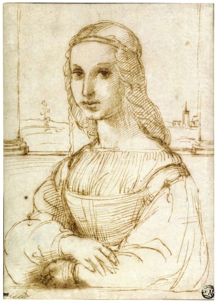 Young Woman With Unicorn Raphael