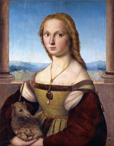 Fig. 7    Raphael 'Lady with a Unicorn'  c. 1505, Borghese Gallery, Rome.