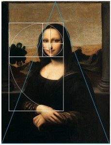 Fig. 8 Leonardo da Vinci 'Mona Lisa', c. 1501-1505, and the 'Golden Ratio'.